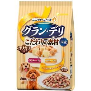 愛犬元気 グラン・デリ 成犬用 ささみ入り粒・角切りチーズ粒入り ( 800g )/ 愛犬元気 ( 国産 )