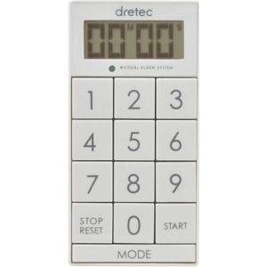 ドリテック デジタルタイマー スリムキューブ ホワイト T-520WT ( 1コ入 )/ ドリテック...