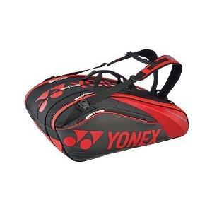 ヨネックス ラケットバッグ9 リュック付 テニス9本用 ブラック*レッド BAG1602N ( 1コ入 )/ ヨネックス
