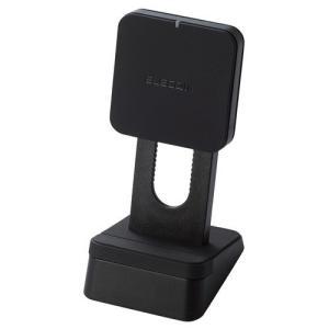 エレコム Qi規格対応ワイヤレス充電器 5W コイル可動式 スタンドタイプ ブラック ( 1個 )/ エレコム(ELECOM)|soukai