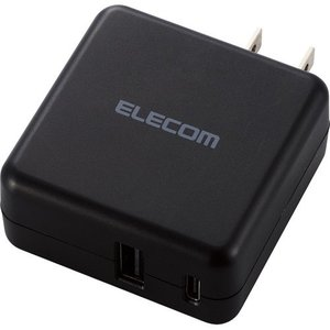 スマホ・タブレット用AC充電器 3.6A出力 USB-Aメス1ポート Type-Cメス1ポート BK ( 1コ入 )/ エレコム(ELECOM)|soukai