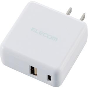 スマホ・タブレット用AC充電器 3.6A出力 USB-Aメス1ポート Type-Cメス1ポート WH ( 1コ入 )/ エレコム(ELECOM)|soukai