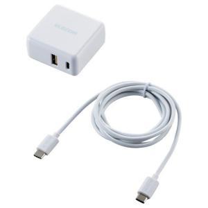 スマートフォン・タブレット用AC充電器 3.6A出力 USB-Aメス Type-Cメス ホワイト ( 1個 )/ エレコム(ELECOM)|soukai