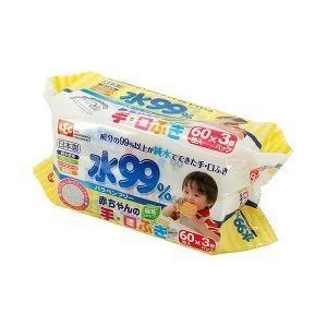 アイプラス 水99% 手・口ふき E-438 (  60枚入...