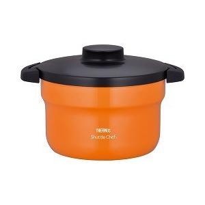 サーモス 真空保温調理器シャトルシェフ オレンジ 2.8L KBJ-3000 OR ( 1コ入 )/ サーモス(THERMOS)|soukai