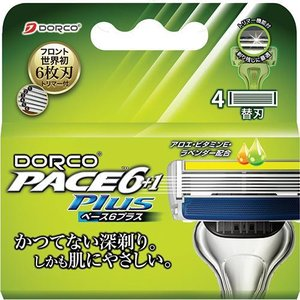ドルコ PACE6PLus 6枚刃 替刃式カミソリ 替刃 トリマー付 ( 4コ入 )/ ドルコ