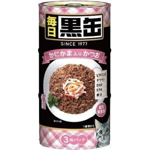 毎日 黒缶3P かにかま入りかつお ( 1セット )/ 黒缶シリーズ
