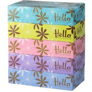 ハロー コンパクトボックス ( 300枚(150組)*5コ入 )/ ハロー ( 日用品 ティッシュペーパー )|soukai