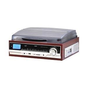 ベルソス マルチレコードプレーヤーS ブラウンウッド調 VS-M006 ( 1台 )/ VERSOS(ベルソス)|soukai