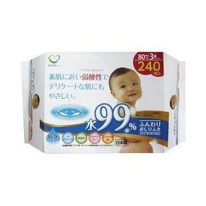 ライフ堂 弱酸性ふんわり赤ちゃんのおしりふき 水99% ( ...
