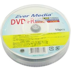 EVER MEDIA DVD+R アナログ録画用 120分 4倍速対応 スピンドルケース入 ホワイト...