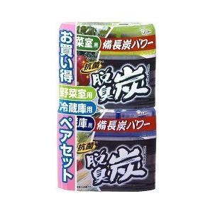 (在庫限り)脱臭炭 ペア 冷蔵庫用+野菜室用 ( 140g+140g )/ 脱臭炭 ( 脱臭剤 )