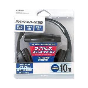 エルパ ワイヤレスステレオヘッドホン RD-IR200 ( 1コ入 )/ エルパ(ELPA) ( ワイヤレス ヘッドホン )|soukai