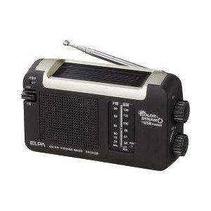 エルパ ソーラーダイナモラジオ ER-DY10F ( 1台 )/ エルパ(ELPA)|soukai