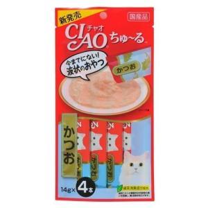 いなば チャオ ちゅ〜る かつお ( 14g*4本入 )/ チャオシリーズ(CIAO) ( いなばペットフード 猫 おやつ 国産 )