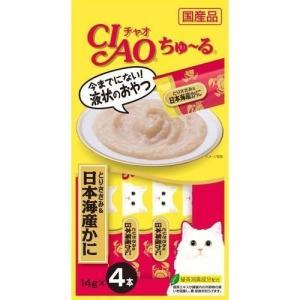 いなば チャオ ちゅ〜る とりささみ&日本海産かに ( 14g*4本入 )/ チャオシリーズ(CIAO)|soukai