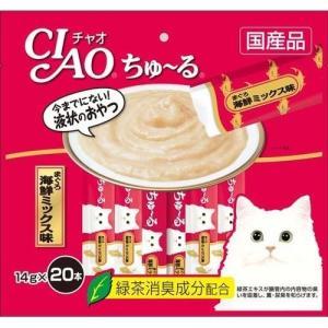 いなば チャオ ちゅ〜る まぐろ 海鮮ミックス味 ( 14g*20本入 )/ チャオシリーズ(CIAO)|soukai