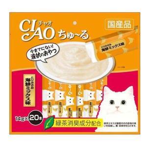 いなば チャオ ちゅ〜る とりささみ 海鮮ミックス味 ( 14g*20本入 )/ チャオシリーズ(CIAO)|soukai