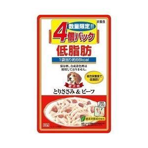 (お得)いなば 低脂肪 とりささみ&ビーフ ( 80g*4コ入 )/ 低脂肪シリーズ