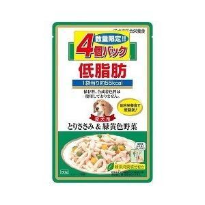 (お得)いなば 低脂肪 とりささみ&緑黄色野菜 ( 80g*4コ入 )/ 低脂肪シリーズ