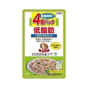 (お得)いなば 低脂肪 とりささみ&ツナ・野菜入り ( 80g*4コ入 )/ 低脂肪シリーズ