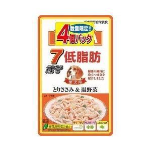 (お得)いなば 低脂肪 7歳からのとりささみ&温野菜 ( 80g*4コ入 )/ 低脂肪シリーズ