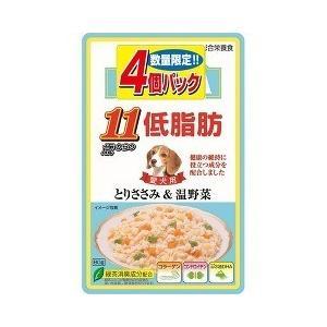 (お得)いなば 低脂肪 11歳からのとりささみ&温野菜 ( 80g*4コ入 )/ 低脂肪シリーズ
