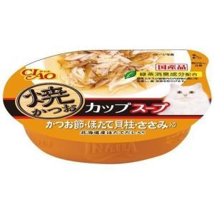 いなば チャオ 焼かつお カップスープ かつお節ほたて貝柱ささみ入り ( 60g )/ チャオシリーズ(CIAO)