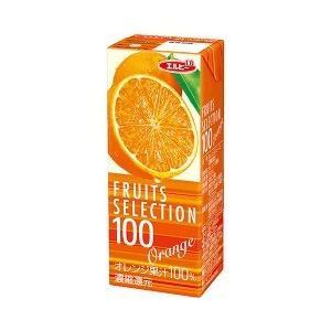 フルーツセレクション  オレンジ100 ( 200mL*24本入 ) ( オレンジ ジュース )