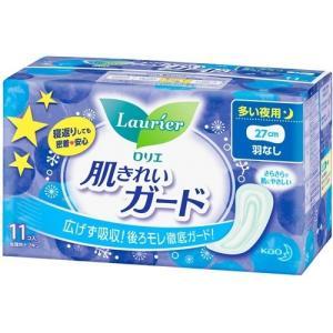 ロリエ 肌キレイガード 夜用 羽なし ( 11コ入 )/ ロリエ ( 生理用品 ナプキン 花王 )