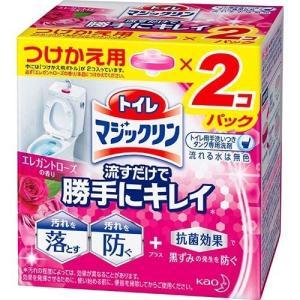 トイレマジックリン トイレ用洗剤 流すだけで勝手にキレイ エレガントローズ 付け替え ( 80g*2...