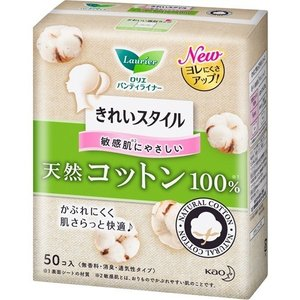 ロリエ きれいスタイル 天然コットン100% ( 50コ入 )/ ロリエ