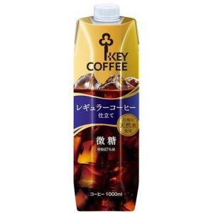 リキッドコーヒー天然水微糖(ストレートコーヒー) ( 1L )/ キーコーヒー(KEY COFFEE)