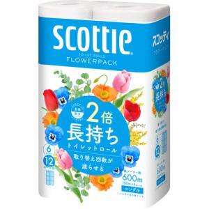 スコッティ フラワーパック 2倍巻き シングル ( 100m*6ロール )/ スコッティ(SCOTTIE)