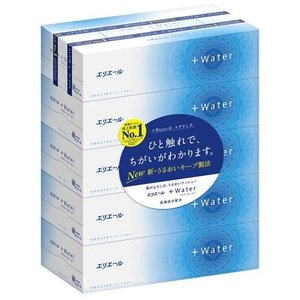 エリエール プラスウォーター(+Water) ティシュー ( 5箱パック )/ プラスウォーター(+Water)|soukai