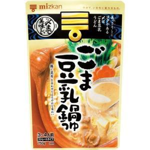 ミツカン 〆まで美味しいごま豆乳鍋つゆ ストレート ( 750g )/ ミツカン|soukai