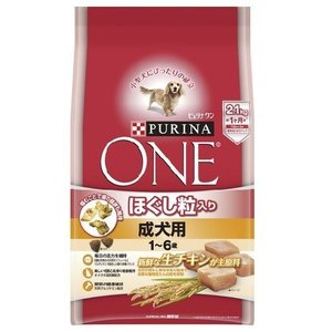 ピュリナワン ドッグ ほぐし粒入り 1〜6歳 成犬用 チキン ( 2.1kg )/ ピュリナワン(PURINA ONE) ( 無添加 無着色 )