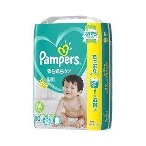 パンパース おむつ さらさらケア テープ   ウルトラジャンボ M ( 80枚入 )/ パンパース ( ベビー用品 )