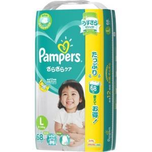パンパース おむつ さらさらケア テープ   ウルトラジャンボ L ( 68枚入 )/ パンパース ( ベビー用品 )