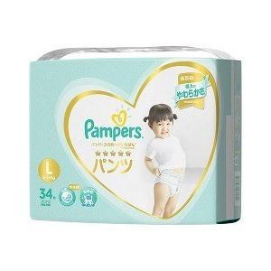 パンパース おむつ はじめての肌へのいちばん パンツ  スーパージャンボ L ( 34枚入 )/ パンパース