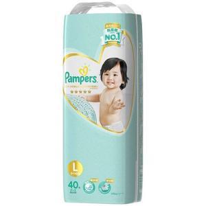 パンパース おむつ はじめての肌へのいちばん テープ スーパージャンボ L ( 40枚入 )/ パンパース