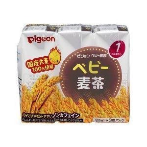 ピジョン ベビー飲料 ベビー麦茶 ( 125ml*3本入 )/ ピジョン ベビー飲料