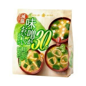 味噌がおいしいおみそ汁 合わせ減塩 ( 30食入 )/ ひかり