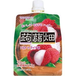 (訳あり)クラッシュタイプの蒟蒻畑 ソルトinライチ味 ( 150g )/ 蒟蒻畑|soukai