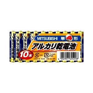 三菱 アルカリ乾電池 単4形 10本パックLR03N/10S ( 1セット )|soukai