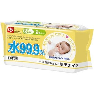 水99.9% おしりふき 厚手 ( 60枚入*2コパック )...
