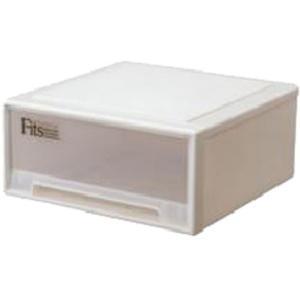 収納ケース リビング収納 フィッツケース ワイド カプチーノ  幅45*奥行45*高さ20cm ( 1コ入 )/ フィッツ(収納用品)