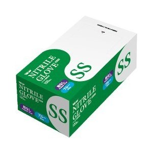 グローブマニア ニトリル 使いきり極薄手袋 粉なし 2039 ブルー SSサイズ ( 100枚入 )/ グローブマニア(GLOVE MANIA)|soukai