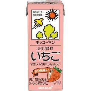 キッコーマン 豆乳飲料 いちご ( 200ml*18本入 )