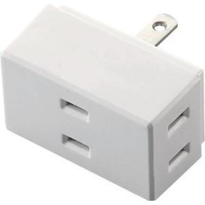 エレコム 1つのコンセントを3つにできる 3個口 電源タップ ホワイト  T-TR01-2300WH...